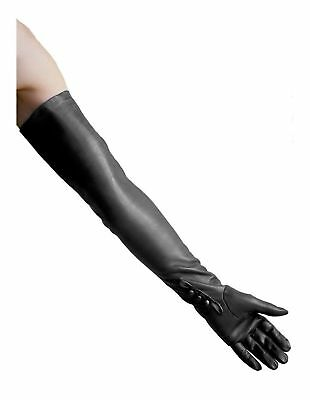 Dents Long Leather Dress/Opera Gloves - Ladies/Womens (Sizes 6.5-8.0; Black or M