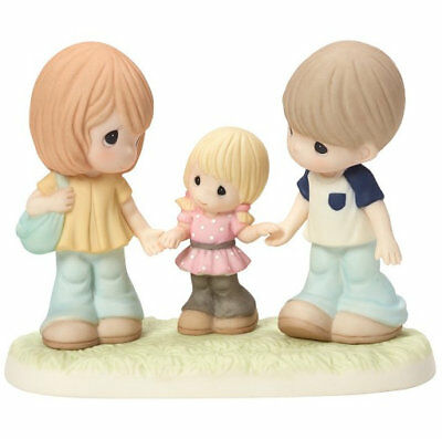 Family Is a Gift That Lasts Forever Precious Moments Figurine Mom Dad Girl NWOB