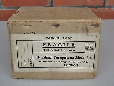 Original  Postal Box  for  phonograph  wax  cylinder  -- over 100 years old !