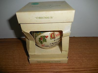 "Hallmark 1978 ""christmas Is"" Satin Ornament"
