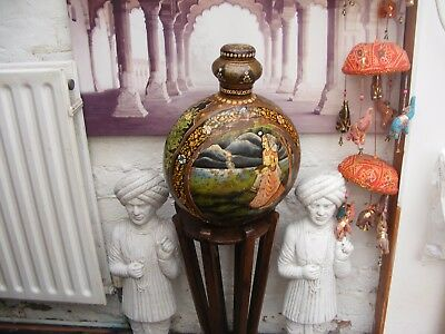 Decorative metal, Indian large container.