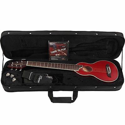 New Washburn Rover RO10TR Steel String Travel Acoustic Guitar Pack + Ships Free