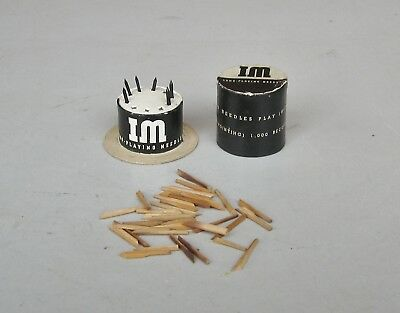""" IM "" Top Hat Gramophone / Phonograph Long - play and  Fibre type Needles"