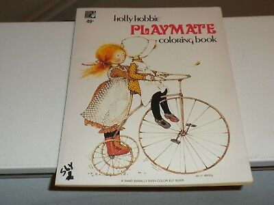 1970's Holly Hobbie PLAYMATE Coloring Book (Not Colored In)