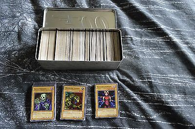yugioh cards, approx 550 in a tin