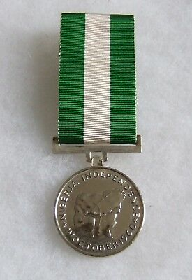 Africa Nigeria Independence Original 1960 Full Size Service Medal & Ribbon