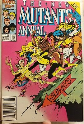 The New Mutants Annual #2 1st Appearance of Psylocke VF/NM