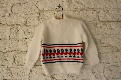 Kids Vintage Sweater Matching Sweaters Christmas Birds Ugly Sweater Party S/M