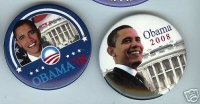 Barack OBAMA pin in front of WHITE HOUSE 2008 sale for ONLY ONE ( 1 ) pinback