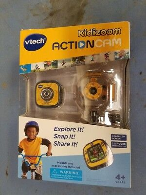 Vtech Kidizoom Action Cam 80-170700 - Yellow Black - New Sealed