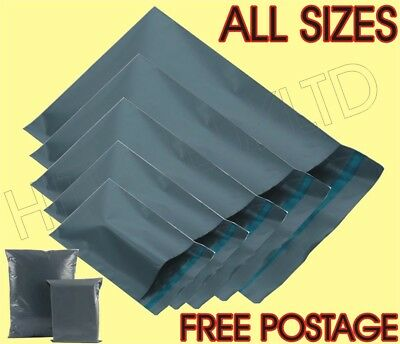 Courier Bags Parcel Bags Mail Bags Postage Bags Grey Poly All Sizes