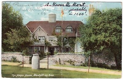 Postcard The Manor House Bexhill-on-Sea Sussex Message From Owner 1905