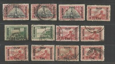 OCT 117 IRAQ - British Occupation mixed selection of USED stamps