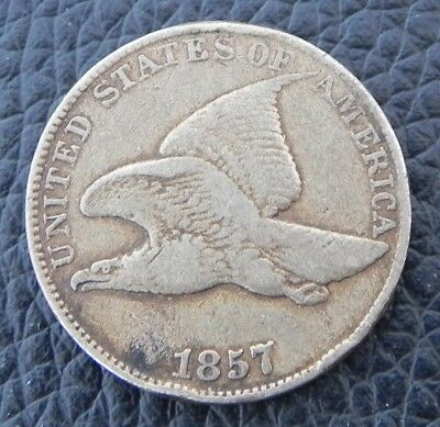 UNITED STATES - 1 cent - 1857 - KM# 85 (Flying Eagle cent)