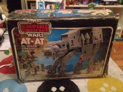 Star Wars vintage AT-AT ESB Meccano french sticker !! boîte seule Box only !!