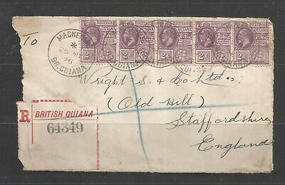 PC 027 British Guiana - Staffordshire Mackenzie 1926 front part of COVER