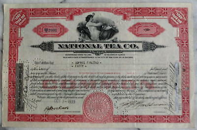National Tea Company, 50 Shares certificate,    CHICAGO  1933