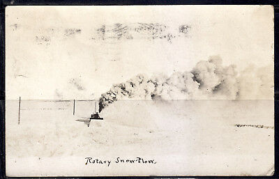 Rotary Snow Plow, Train, Mailed From Jamestown N. Dak., 1907 Flag Cancel