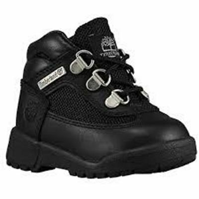 Toddler Little Kids TIMBERLAND 15806 FIELD BOOT Leather HIKING BLACK 5 CHUKKA