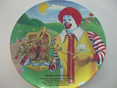 "1989 9"" Ronald MclDonald plate  The McNugget Band"