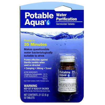 Potable Aqua Water Purification Germicidal Tablets