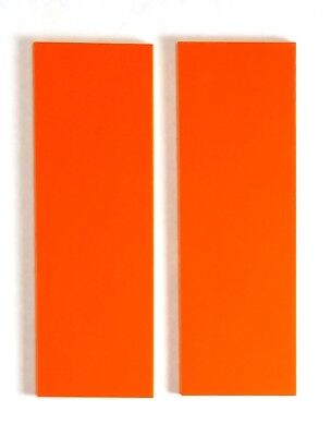 G10 SAFETY ORANGE 1/4 .250 x 2 x 6 (2) KNIFE / GUN HANDLE SCALE MATERIAL G-10