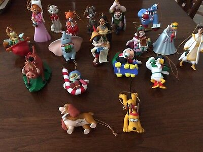 Huge Lot Of 19 Grolier Exclusive Disney Magic Christmas Ornaments