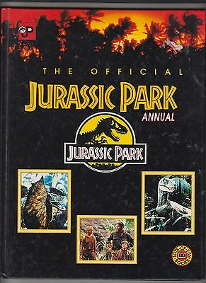 JURASSIC PARK OFFICIAL ANNUAL 1993 Hardcover-  62 pages-Great Photos and stories