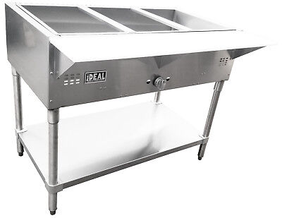 NEW Commercial Gas 3 Well Bain Marie Steam Table Made in USA by Ideal ETL listed