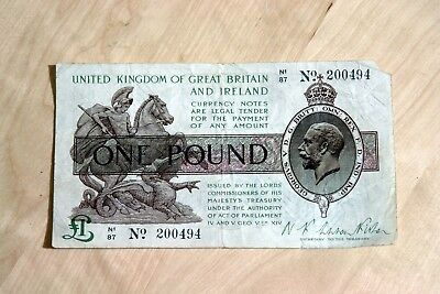 Great Britain And Ireland One Pound £1 Warren Fisher