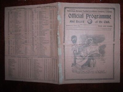 TOTTENHAM(Spurs) 'A' V FULHAM 'A'(Friendly) *Sat February 29th 1936*
