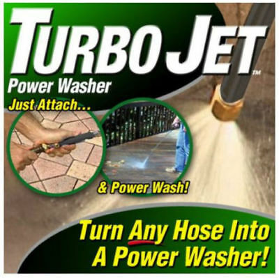 Turbo Jet Power Washer Wand Attachment Pressure Spray with 2 Nozzles! Seen on TV