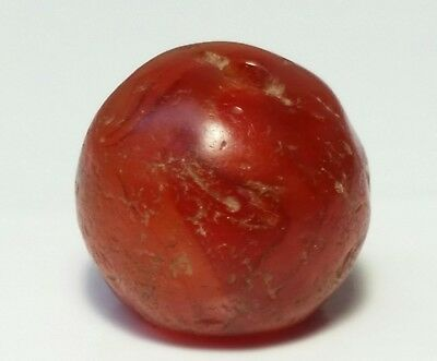 14.2mm ANCIENT RARE BANDED CARNELIAN / AGATE BEAD