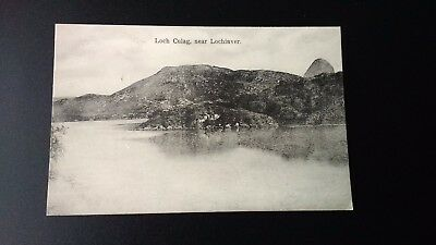 Loch Culag , near Lochinver Vintage Postcard