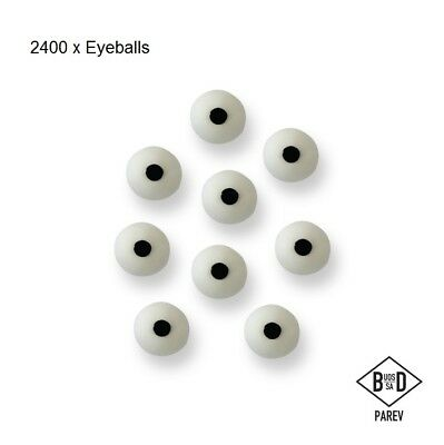 2400 x PME Eyes Eye Ball Cup Cake Icing Edible Halloween Sugarcraft Decoration