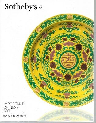 Sotheby's Important Chinese Art Auction Catalog March 2016