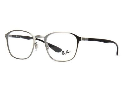 Ray Ban Active Lifestyle RX6357 2553 48 Gunmetal Grey Frame / Clear Lenses