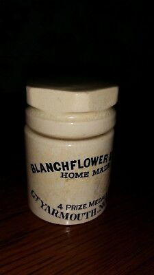 Vintage Blanchflower & Sons Home Made Pot Great Yarmouth Norfolk. Screw Top Jar
