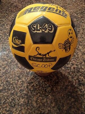 Chicago Sting Team Signed Auto Autographed Soccer Ball  W/Stand
