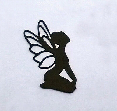 Pack Of 10 Silhouette Fairies - Die Cut Card Toppers  - Fairy / Mason Jars