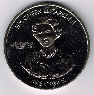 2015 Ascension Island CuNi One crown coin