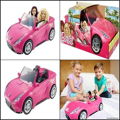 Barbie Glam Convertible Pink Car Doll 2 Vehicle Girls Hot Seats New Toy Mattel