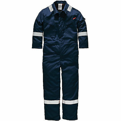 "Dickies Mens Insulated Pyrovatex Flame Retardant Overalls Red 46"" 31"""