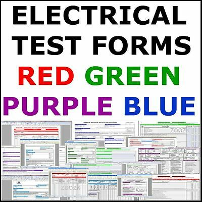 ELECTRICAL TEST CERTIFICATES CERTIFICATE 17TH EDITION + PAT, EICR BS7671 On DVD