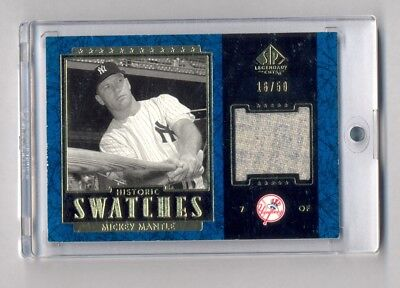 Mickey Mantle 2003 Sp Legendary Cuts Blue Game Used Pants Relic #16/50 Yankees