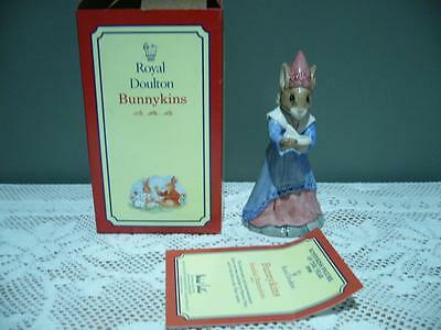 Royal Doulton 'sundial Bunnykins' Vintage Figurine In Box With Cert - Vgc