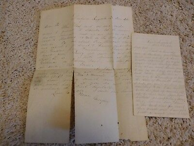 2 Letters 1861 Confederate Romney Expedition Stonewall Jackson Drive Yankees Out