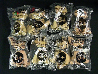 LOT of 8 Mint Condition Taco Bell Chihuahuas in Orig. Unopened Plastic Wrapping