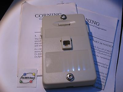 DSL Filter Phone Splitter Wall-Mount Corning Cable Systems SPS-ST0-SG21-CN - NOS