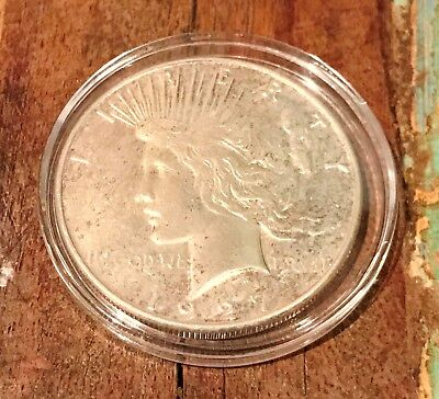 1927 P $1 Peace Dollar Silver Coin Very Cleaned Fine